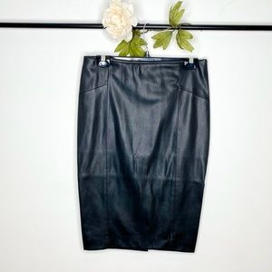 ❤️Zara High-Waisted Faux Leather Knee-Length Skirt